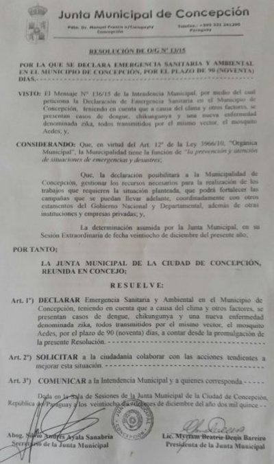 Concepción se declara en emergencia