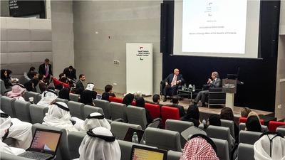 Canciller expone sobre situación política y económica del Paraguay en Emiratos Árabes