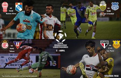 Con cuatro partidos se reanuda la Copa Libertadores este martes
