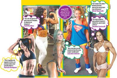 Las chicas fitness aseguran que reciben más halagos que críticas