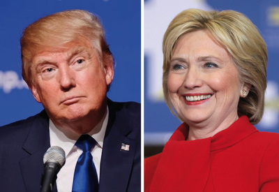 Cómo sería un enfrentamiento entre Trump y Clinton por la presidencia de EE.UU
