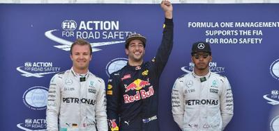 Ricciardo logra su primera pole en Fórmula 1