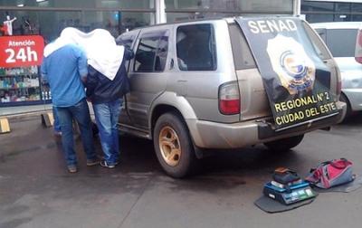 Funcionarios judiciales caen con cocaína en Hernandarias