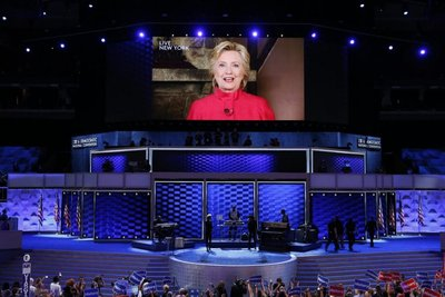 Hillary hace historia al recibir nominación