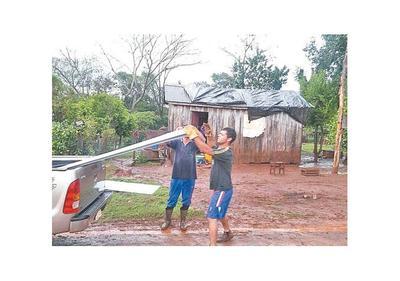 Granizada afectó a 3 distritos de Itapúa
