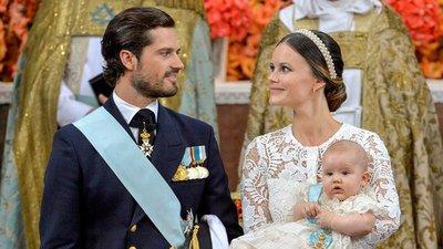 Bautizan al príncipe Alejandro, primer hijo de Carlos Felipe y Sofía de Suecia