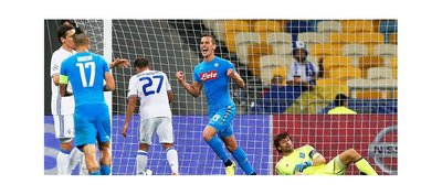 Milik, con un doblete, le da el triunfo al Napoli en Kiev