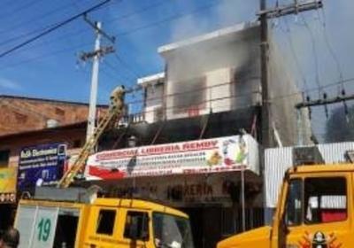 Pérdidas cuantiosas tras incendio en librería