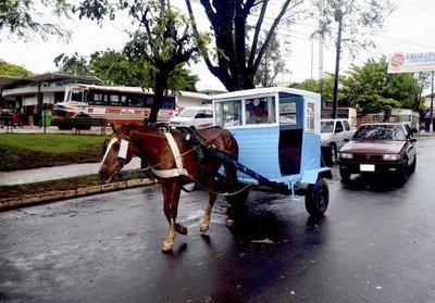 Karumbe, símbolo del transporte en Villarrica