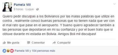 Pamela Vill Tras Sus Escandalosas Declaraciones En Contra De Los Bolivianos Pidió Disculpas