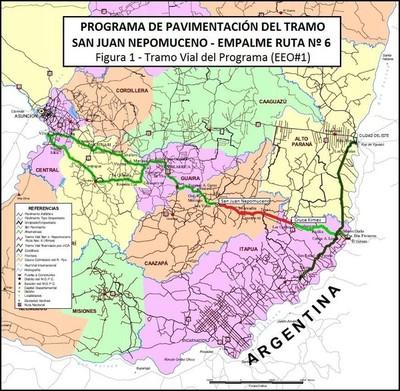 MOPC adjudica pavimentación del tramo San Juan Nepomuceno y ruta 6