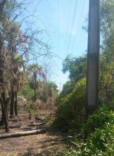 Sin luz en algunas zonas del Chaco