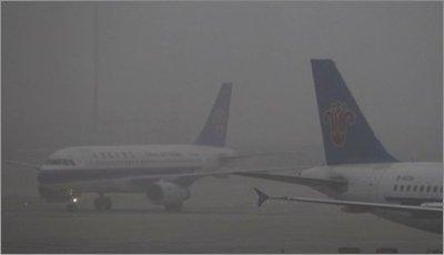 La contaminación obliga a cerrar aeropuerto en China
