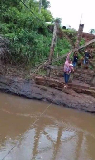 """Niño murió al cruzar """"puente"""" en Amambay"""