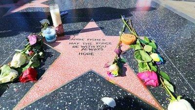 Fans de Carrie Fisher crean estrella en el Paseo de la Fama