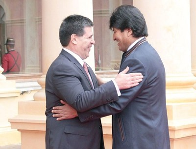 Presidentes de Paraguay y Bolivia se reúnen hoy en Asunción
