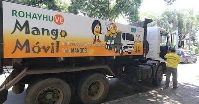 Mango móvil juntó 600.000 kilos de fruta en 15 días