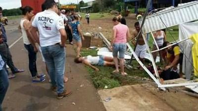 ACCIDENTE SOBRE EL EMPALME RUTA 1 Y RUTA 8 EN CORONEL BOGADO.