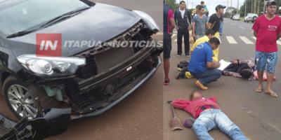 MOTOCICLISTAS MENORES Y SIN CASCO PROTAGONIZAN ACCIDENTE EN LA RUTA 1