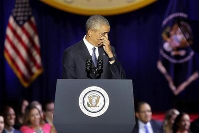 En su adiós, Obama llama a la unidad y elogia a Michelle
