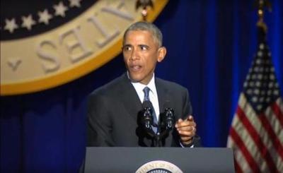 Barack Obama se despidió anoche como presidente de EE.UU.