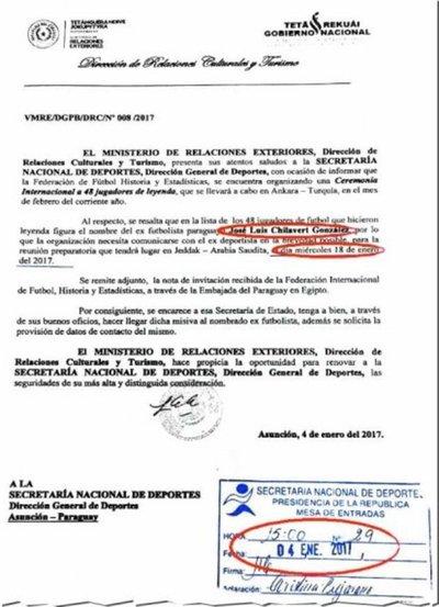 Chila es declarado Leyenda del Fútbol