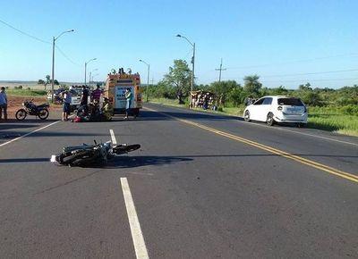 Motociclista muere en accidente en Quiindy