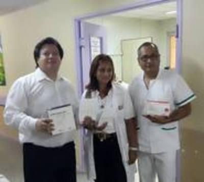 Fiscalía dona insumos y acondicionadores de aire a Hospital Nacional