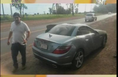 Chofer ebrio amenaza a policía durante control caminero