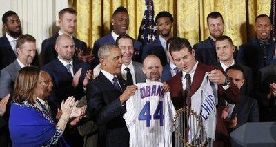 Barack Obama y los Cachorros de Chicago
