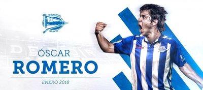 Alavés confirma la incorporación de Óscar Romero