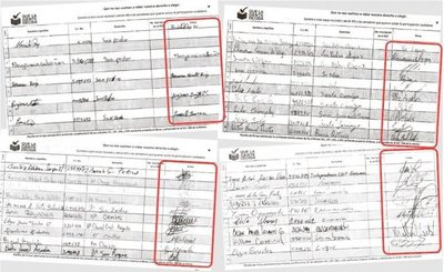 Saltan llamativas similitudes en las firmas llevadas a la  Justicia Electoral