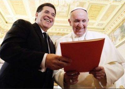 Cartes se reunió con el papa Francisco