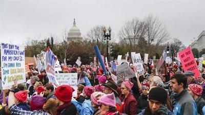 La Marcha de las Mujeres: más de medio millón de personas protestan contra Donald Trump en Washington