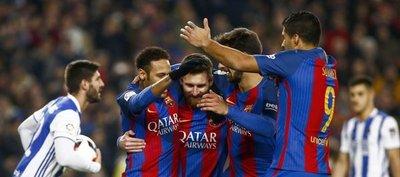 Barça golea a la Real Sociedad y es semifinalista de Copa del Rey