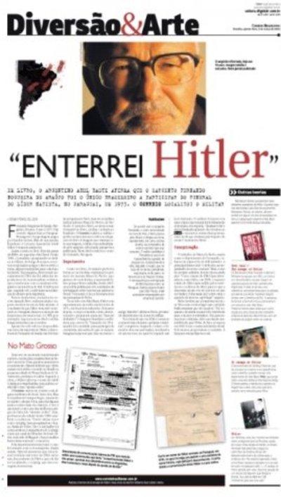 Brasileño confirma entierro de Hitler en Paraguay