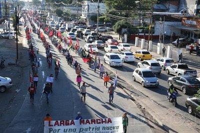 Marcha campesina causó caos vehicular en Área Metropolitana