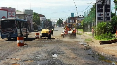 San Lorezo: Reparan calles aledañas a la obra del Metrobús