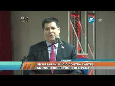 PLRA anuncia que impulsará juicio político contra Horacio Cartes