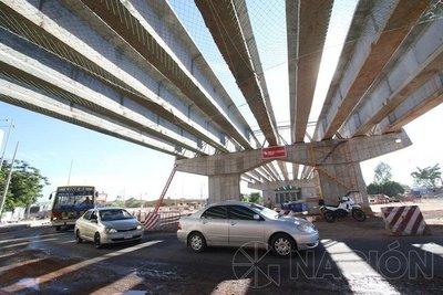 Avanza obra del superviaducto y habilitan parcialmente el tránsito