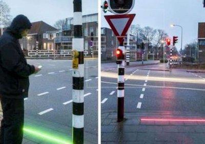 Instalan semáforos para adictos al celular