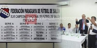 GRUPOS CONFORMADOS PARA ENFRENTAR EL NACIONAL DE FÚTBOL DE SALÓN EN ITAPÚA