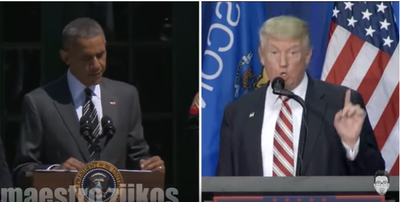 Trump-Obama rémix