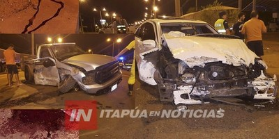 AHORA: GRAVE ACCIDENTE EN EL ACCESO AL B° MA. AUXILIADORA