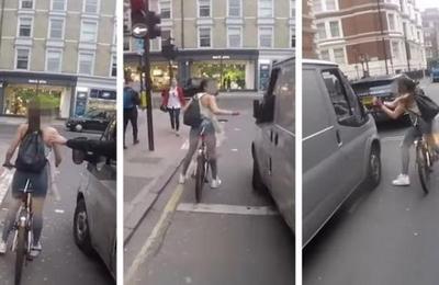 Dos tipos en una camioneta acosaban a esta chica pero no sabían como ella se vengaría