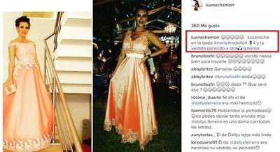 """Luana Chamorro Se Puso En """"evidencia"""" Y Comparó Su Vestido Con El De Otra Mediática"""