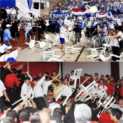 Critican violencia en las convenciones partidarias