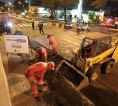 Municipalidad logra 1.025 bacheos en siete días por Operación 24/30