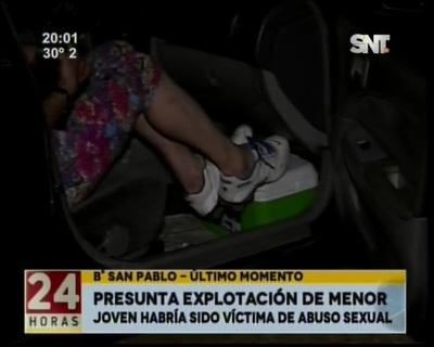 Una adolescente que habría sido sexualmente explotada fue rescatada en barrio San Pablo