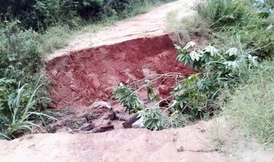 Desastre tras el temporal en la zona de Caazapá